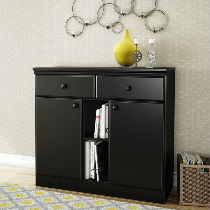 Morgan Storage Console in Pure Black