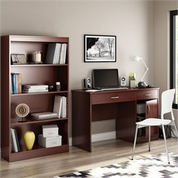 South Shore Axess 2 Piece Office Set in Royal Cherry