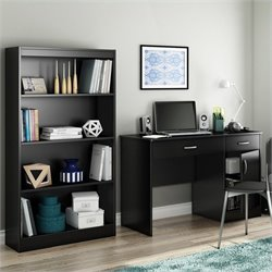South Shore Axess 2 Piece Office Set in Pure Black