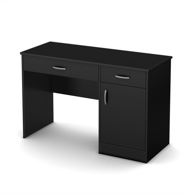 South Shore Axess Small Computer Desk In Pure Black 7270070