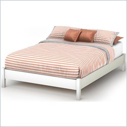 South Shore Step One Full Platform Bed in Pure White