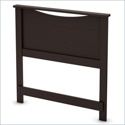 South Shore Step One Twin Headboard in Chocolate