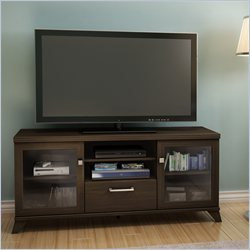 South Shore Boro TV Stand in Matte Brown