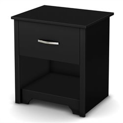 South Shore Fusion Night Stand in Pure Black
