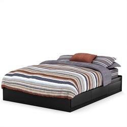 South Shore Fusion Queen Mates Bed (60'') in Pure Black