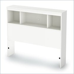 South Shore Karma Bookcase Headboard in Pure White - Twin