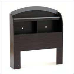 South Shore Lazer Bookcase Headboard in Black Onyx - Twin