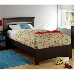 South Shore Libra 39'' Twin Bed in Chocolate