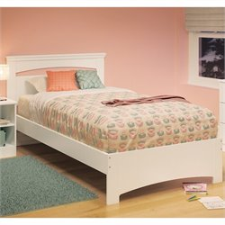 South Shore Libra 39'' Twin Bed in Pure White