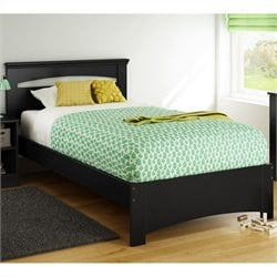 South Shore Libra 39'' Twin Bed in Pure Black