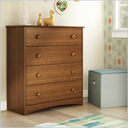 South Shore Angel 4 Drawer Chest in Morgan Cherry