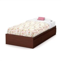 South Shore Summer Breeze Twin Mates Bed in Royal Cherry