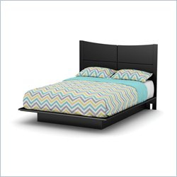 South Shore Step One Queen Panal Headboard in Black