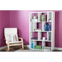 South Shore Reveal Shelving Unit with 12 Compartments in Pure White