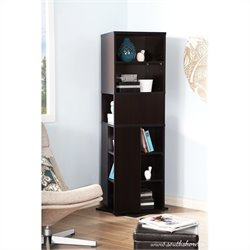 South Shore Reveal Revolving Bookcase in Chocolate