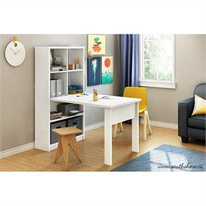 South Shore Annexe Craft Table and Storage Unit Combo in Pure White