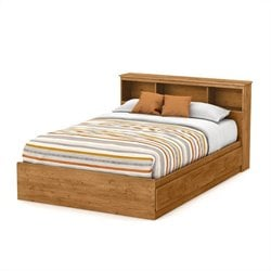 South Shore Little Treasures Full Bookcase Headboard in Country Pine