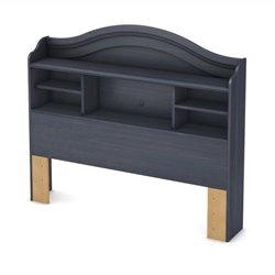 South Shore Summer Breeze Full Bookcase Headboard in Blueberry