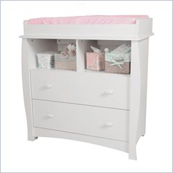 South Shore Beehive 2 Drawer Changing Table in Pure White