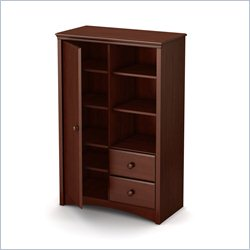 South Shore Sweet Morning 2 Drawer Armoire in Royal Cherry