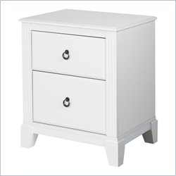 South Shore Ariella 2 Drawer Night Stand Eternal in White
