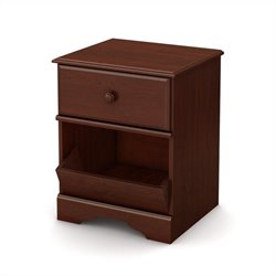 South Shore Little Treasures 1 Drawer Night Stand in Royal Cherry