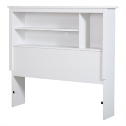 South Shore Vito Twin Bookcase Headboard in Pure White