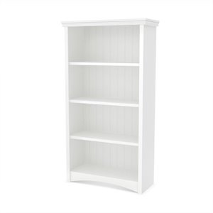 South Shore Gascony 4-Shelf Bookcase in Pure White