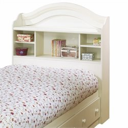 South Shore Summer Breeze Twin Bookcase Headboard in White