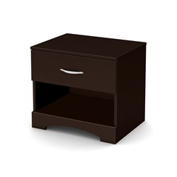 South Shore Back Bay Nightstand in Dark Chocolate