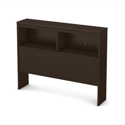 South Shore Libra Twin Bookcase Headboard in Chocolate