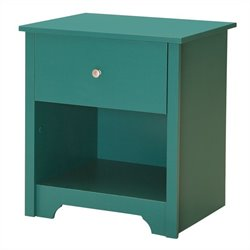 South Shore Vito Nightstand in Turquoise