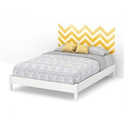 Step One Queen Platform Bed and Legs in White