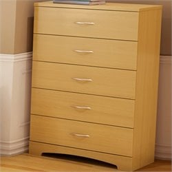South Shore Copley Kids 5 Drawer Chest in Natural Maple Finish