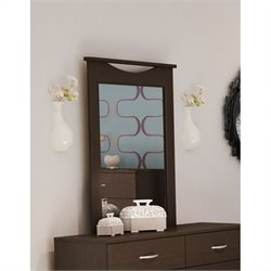 South Shore Back Bay Dark Chocolate Dresser Mirror