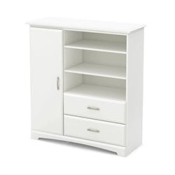 South Shore Callesto Armoire in Pure White