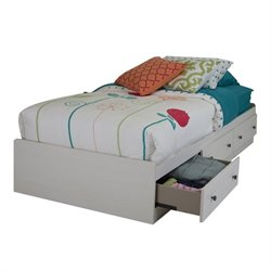 South Shore Country Poetry 3 Drawer Twin Mates Bed in White Wash