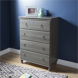 South Shore Moonlight 4 Drawer Chest in Gray