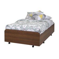 South Shore Mobby Twin Trundle Bed with Casters in Morgan Cherry