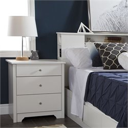 South Shore Vito Nightstand in Pure White