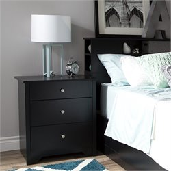South Shore Vito Nightstand in Pure Black