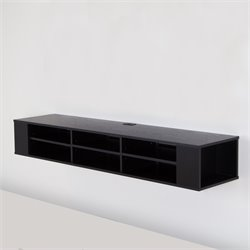 South Shore City Life TV Stand in Black Oak
