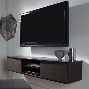 Agora Wall Mounted Media Console in Chocolate