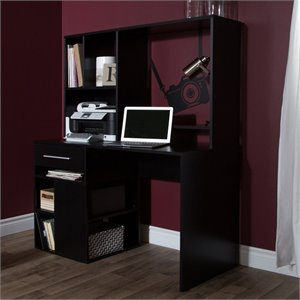 South Shore Annexe Home Office Computer Desk in Pure Black
