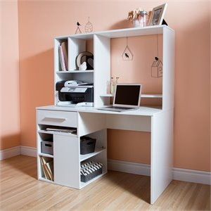 South Shore Annexe Home Office Computer Desk in Pure White