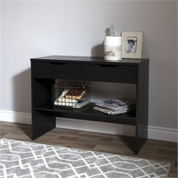 South Shore Flexible Console Table in Black Oak