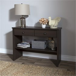 South Shore Beaujolais Console Table in Matte Brown