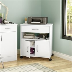 South Shore Axess Printer Cart in Pure White