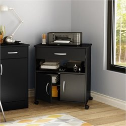 South Shore Axess Printer Cart in Pure Black