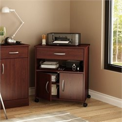 South Shore Axess Printer Cart in Royal Cherry